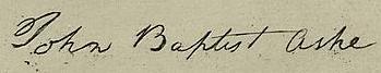 John Baptista Ashe Signature
