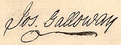 Joseph Galloway Signature