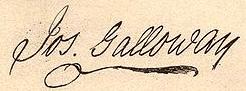 Joseph Galloway Signature