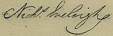 Nicholas Eveleigh Signature
