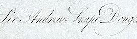 Andrew Snape Douglas Signature