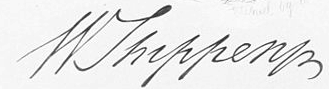 William Shippen, Jr. Signature