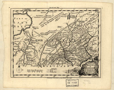 Map - 1756 – A Map of the Province of Pennsylvania