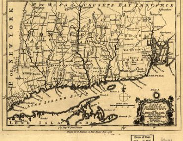 Map - 1758 – A Map of the Colonies in Connecticut and Rhode Island