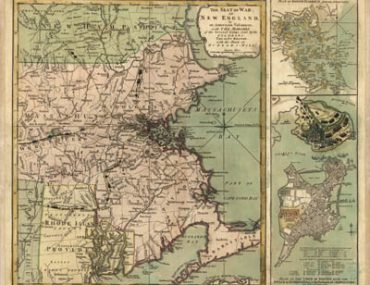 Map - 1775 – The Seat of War in New England by an American Volunteer (Bunker-Hill)
