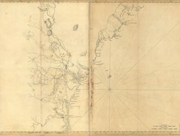 Map - 1776 – Coast of New England from Cape Elizabeth, Maine to Newburyport, Massachusetts, Including New Hampshire