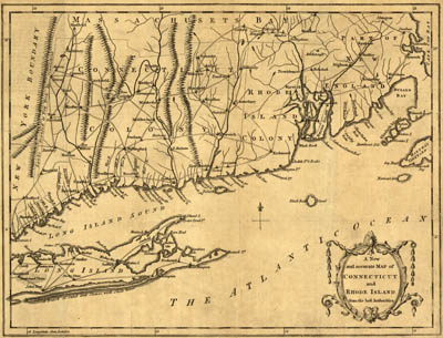 Map - 1780 – A New and Accurate Map of Connecticut and Rhode Island, from Best Authorities
