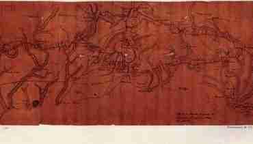 Map - 1781 – Marche de L'armee Francaise de Providence a la Riviere du Nord