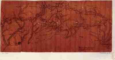 Map - 1781 – March de L'armee Francaise de Providence a la Riviere du Nord