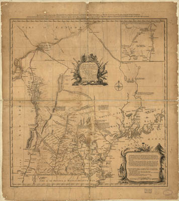 Map - 1758 – An Accurate Map of His Majesty's Province of New Hampshire in New England