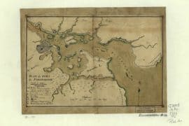 Map - 1782 – Plan du Port de Portsmith (New Hampshire) leve a Vue