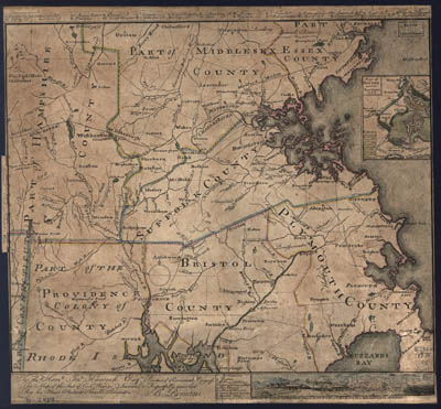 Map - 1775 – Map of the Seat of Civil War in America
