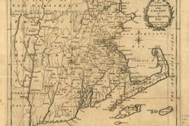 Map - 1780 – A New and Accurate Map of the Colony of Massachusetts Bay, in North America, from a Late Survey