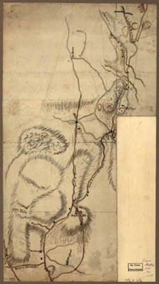 Map - 1775 – Map of the Environs of Roxbury Showing Roads to Jamaica, Cambridge, Dorchester, Milton, etc.