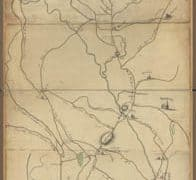 Map - 1775 – Roxbury to Concord – Roads and Distances (Massachusette)