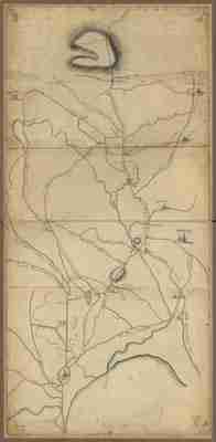 Map - 1775 – Roxbury to Concord – Roads and Distances (Massachusette)