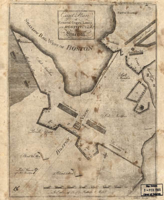 Map - 1775 – Exact Plan of General Gage's Lines on Boston Neck in America