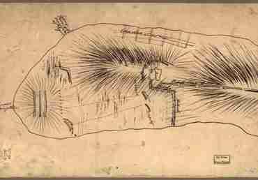 Map - 1775 – Bunker Hill – Rough Sketch (Battle of Bunker Hill)
