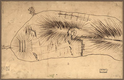 Map - 1775 – Bunker Hill – Rough Sketch (Battle of Bunker Hill)