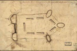 Map - 1775 – Major General Howe's Encampment on Bunker's Hill at Charles Town
