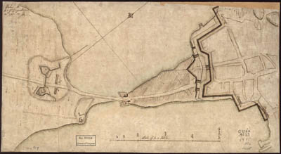 "Map - 1775 – Plan of the ""Neck"" and Fortification (Boston)"