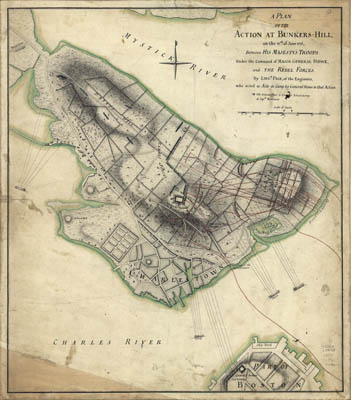 Map - 1775 – A Plan of the Actions at Bunker's Hill (Battle of Bunker Hill)