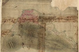 Map - 1775 – Rough Draft of Charlestown, in Water Color (Bunker Hill)