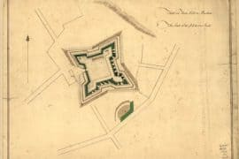 Map - 1776 – Fort on Fort Hill in Boston