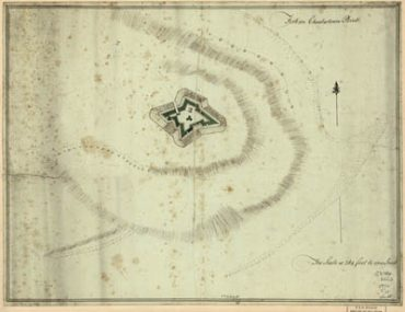 Map - 1776 – Fort on Charlestown Point