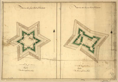 Map - 1776 – Fort on the First Hill in Dorchester.  Fort on the Second Hill in Dorchester