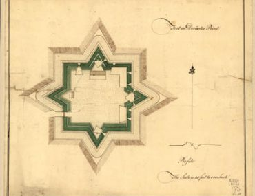 Map - 1776 – Fort on Dorchester Point