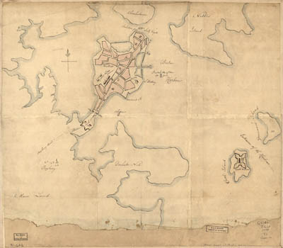 Map - 1776 – Rough Draft of Boston and Harbour