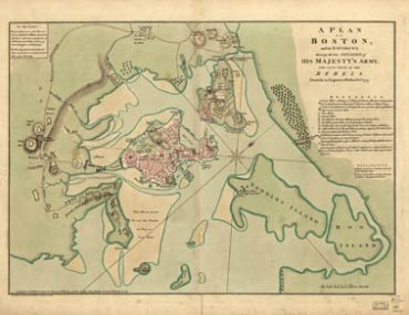 Map - 1776 – A Plan of Boston and its Environs, Showing the True Situation of His Majesty's Army