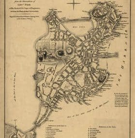 Map - 1777 – A plan of the town of Boston, with the entrenchments of his Majesty's Forces in 1775