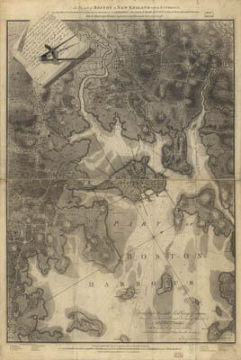 Map - 1777 – A plan of Boston in New England with its Environs
