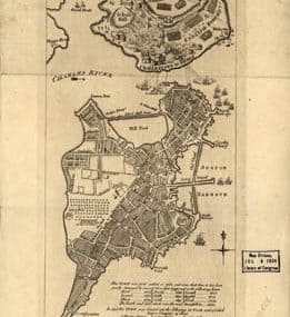Map - 1778 – Plan of the Town with the Attack on Bunkers-Hill in the Peninsula of Charlestown, the 17th of June 1775