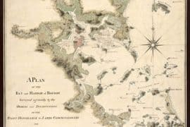 Map - 1775 – A Plan of the Bay and Harbor of Boston