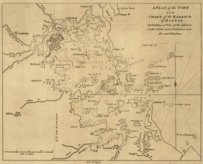 Map - 1775 – A Plan of the Town and Chart of the Harbour of Boston