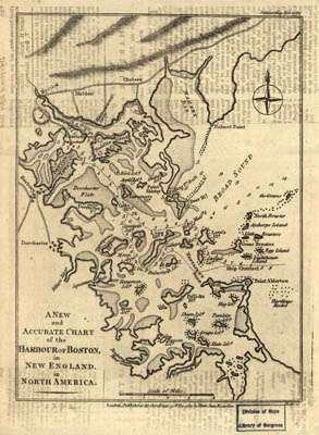 Map - 1782 – A New and Accurate Chart of the Harbor of Boston in New England in North America