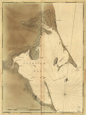 Map - 177? - Chart of Plymouth Bay