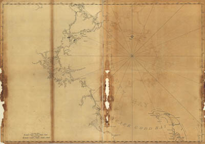 Map - 1776 – Coast of Massachusetts from Cape Ann to Manomet Point, Including Northern Tip of Cape Cod