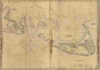 Map - 1776 – A Chart of Nantucket Island and the Eastern Half of Martha's Vineyard