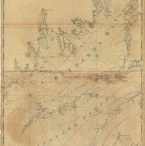 Map - 1776 – Chart of Buzzards Bay and Vineyard Sound