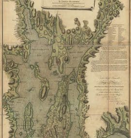 Map - 1777 – A Topographical Chart of the Bay of Narraganset in the Province of New England