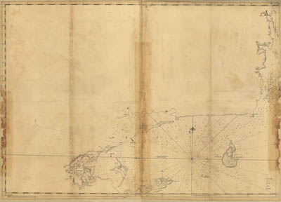 Map - 1779 – Coast of Rhode Island and Long Island from Narragansett Bay to Peconic Bay
