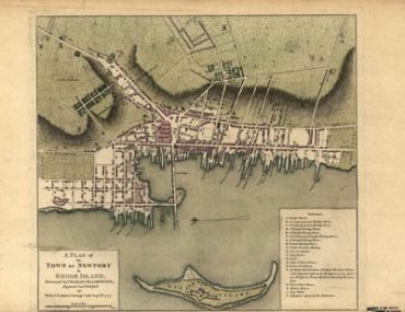 Map - 1777 – A Plan of the Town of Newport in Rhode Island, Surveyed by Charles Blaskowitz