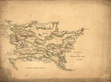 Map - 1778 – Attacks upon Rhode Island