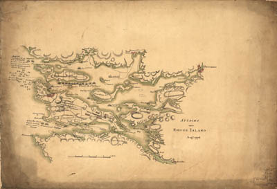 Map - 1778 – Attacks upon Rhode Island