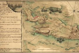 Map - 1778 – Plan de Rhode Island et les Differentes Operations de la Flotte-Francoises et des Troupes Americaines