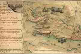 Map - 1778 – Plan de Rhode Island et les Differentes Operations de la Flotte-Francoises et des Troupes Americaines